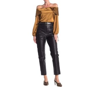 LPA Solid Leather Pants Size Large